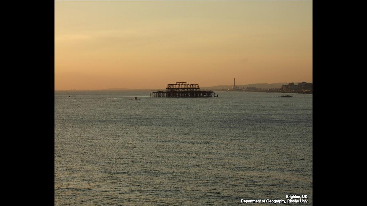 黄昏の Brighton(英国)