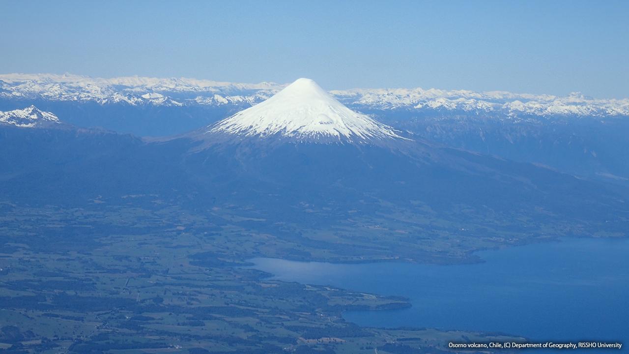 チリ富士、オソルノ山