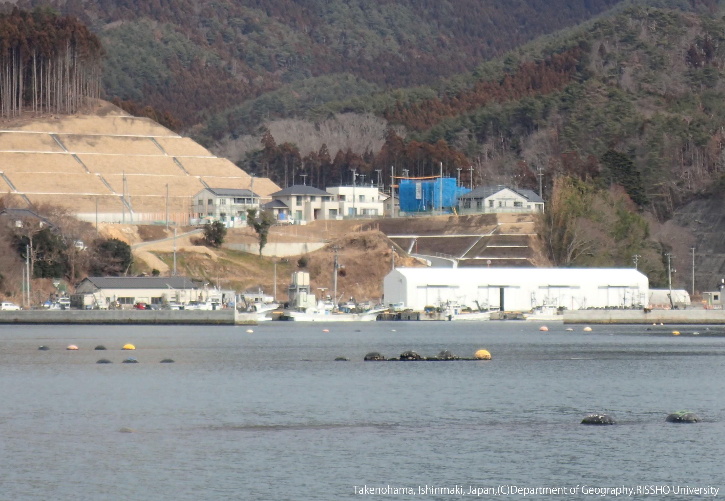 復興が進む被災地の漁村