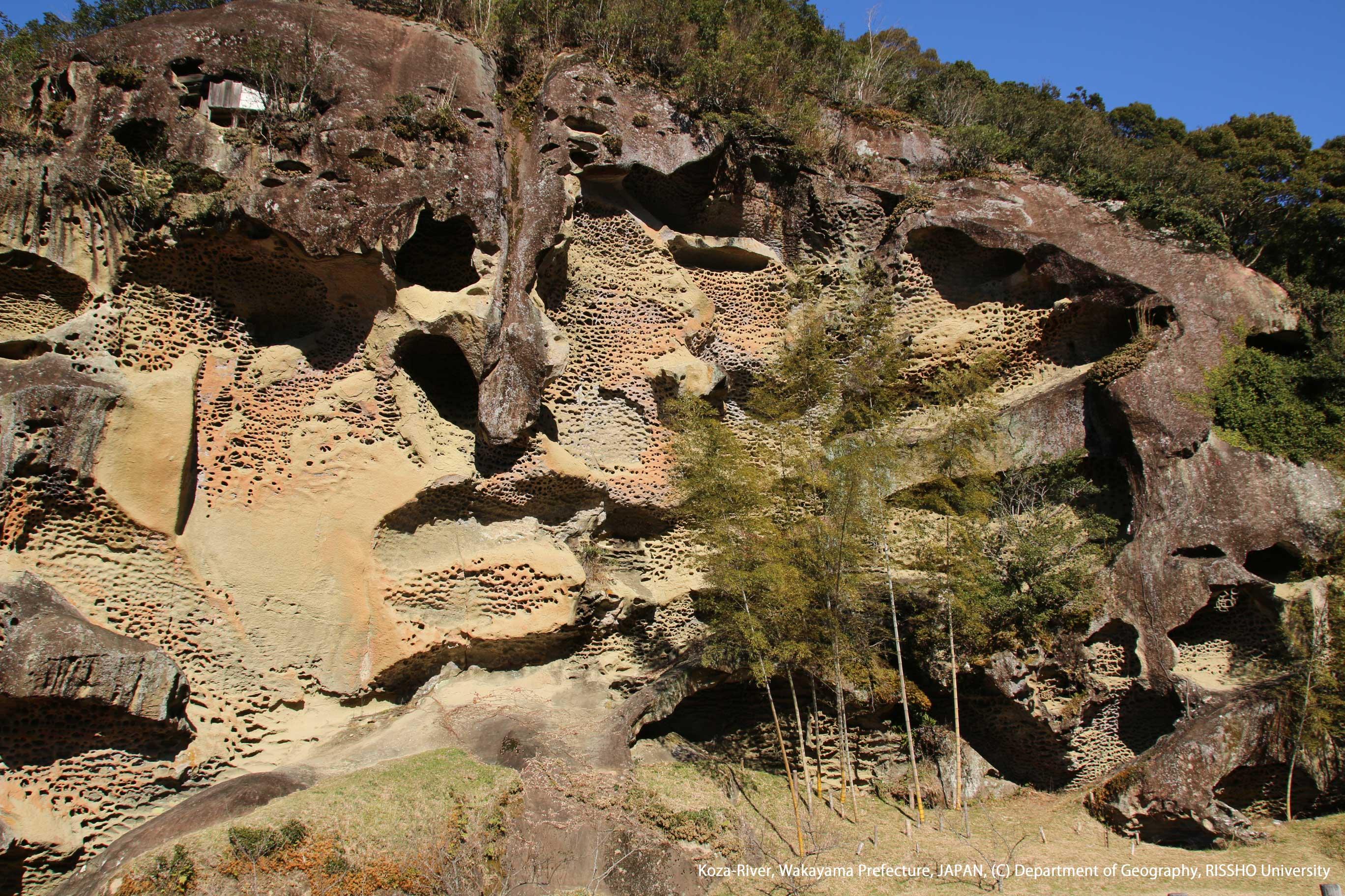 高池の虫喰岩