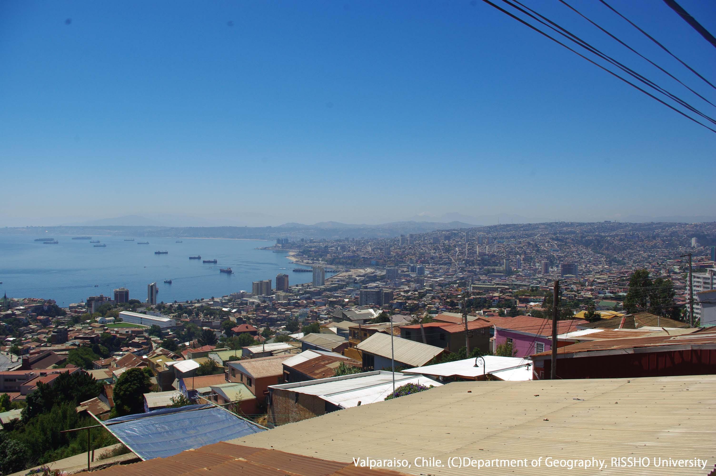 チリ中部の港町、バルパライソ