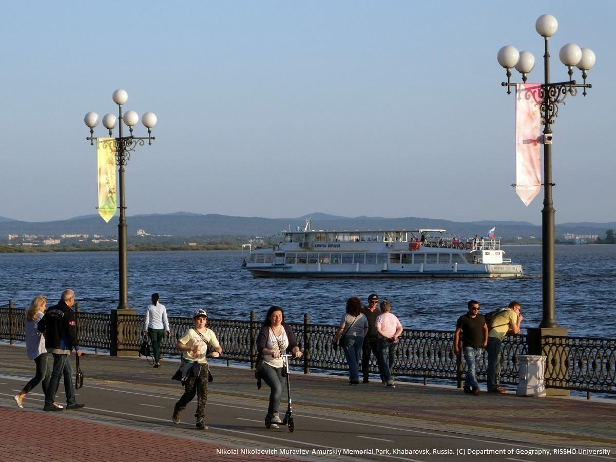 極東ロシア,ハバロフスクのアムール川