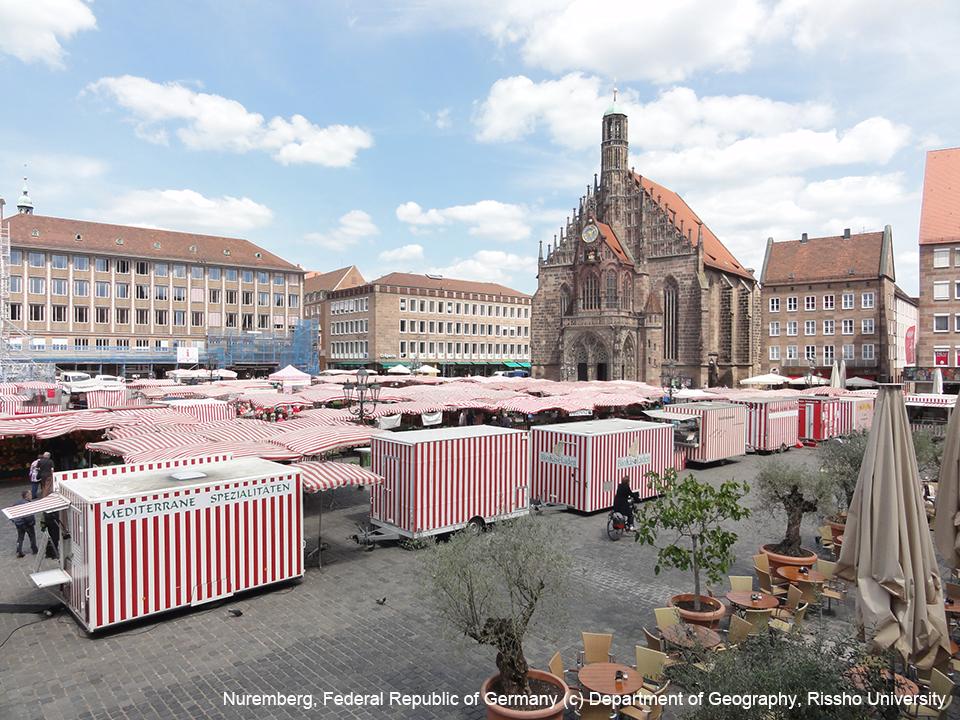 ドイツ・ニュルンベルクの中心部・中央広場