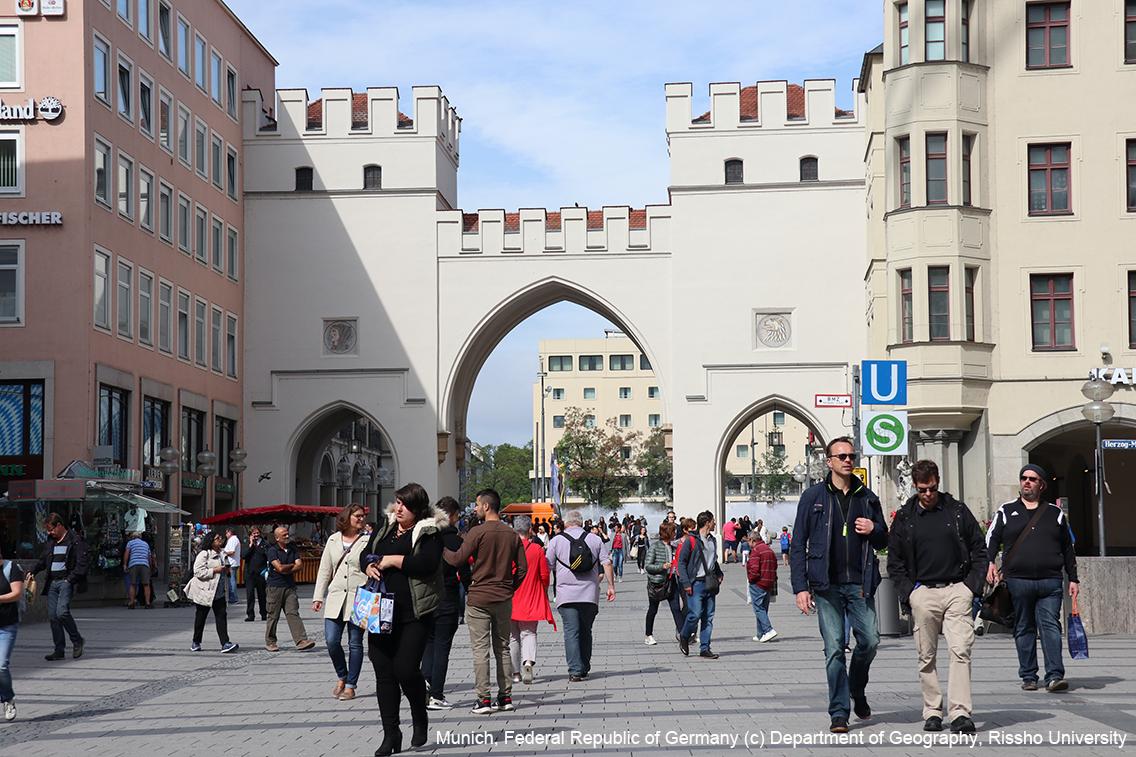 ドイツ・ミュンヘンの歩行者専用道路