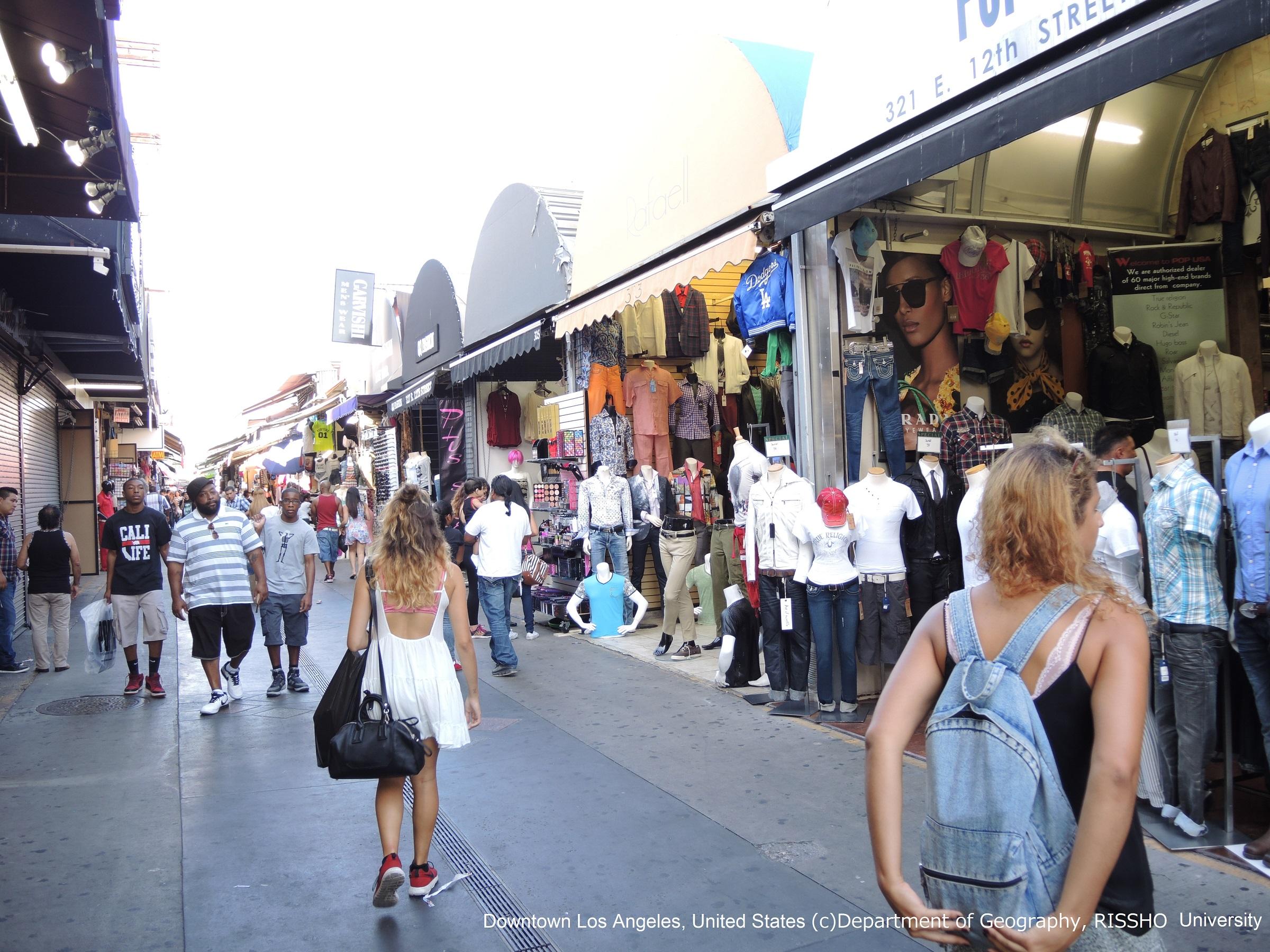 アメリカ・ロサンゼルスのファッション地区